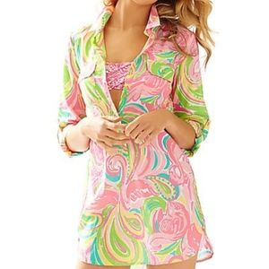 LILLY PULTZER Captiva Tunic Cover-Up size Medium